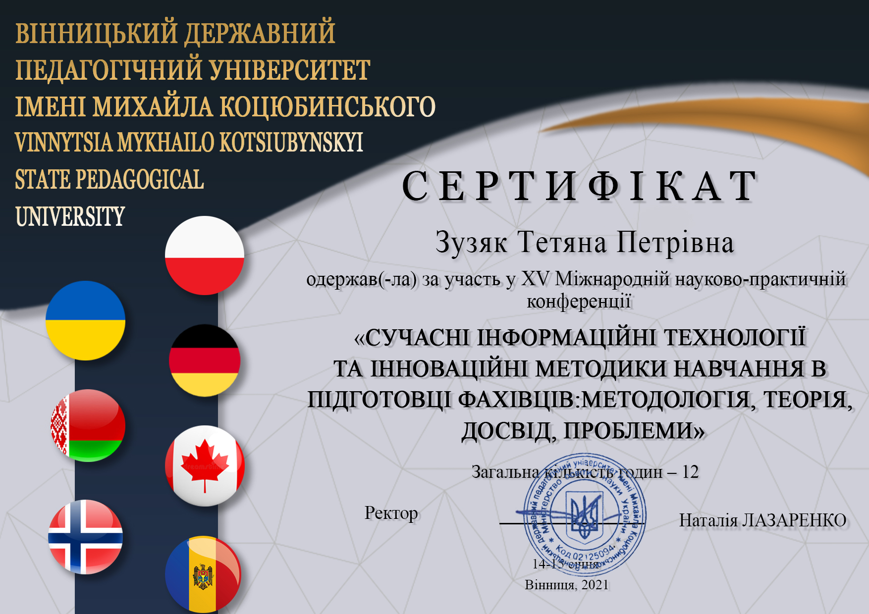 Зузяк Тетяна Петрівна